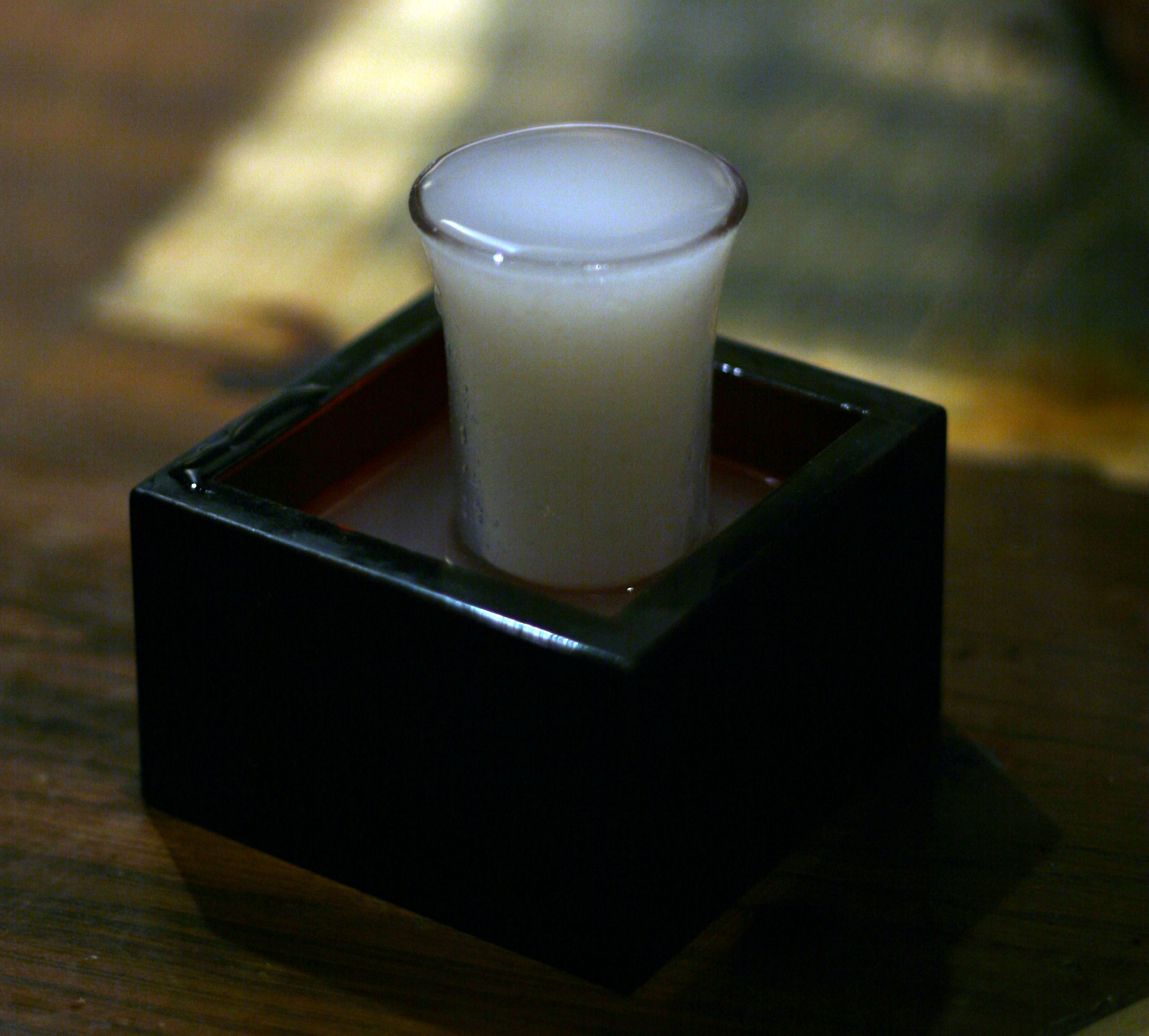 Unfiltered_Sake_at_Gyu-Kaku